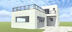 Modern Style Home Design Plan: 39-210