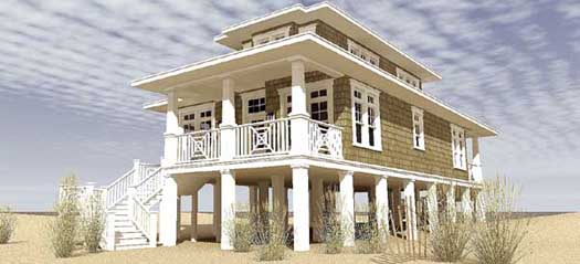 Coastal Style Home Design Plan: 39-211