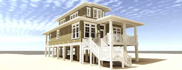 Coastal Style House Plans