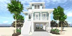 Coastal Style House Plans Plan: 39-218