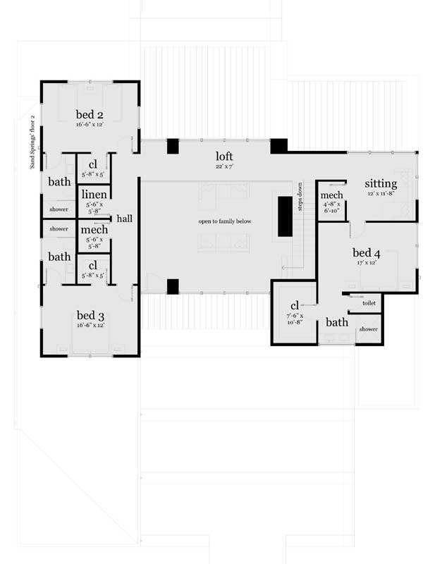 Upper/Second Floor Plan: 39-220