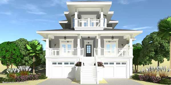 Coastal Style House Plans Plan: 39-224