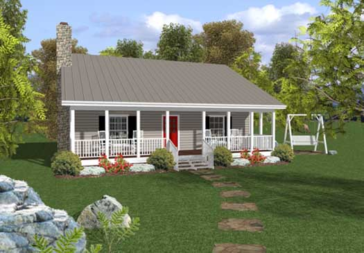 Country Style Home Design Plan: 4-101