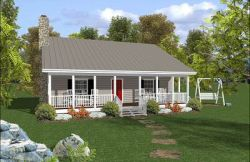 Country Style Floor Plans Plan: 4-101