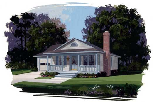 Country Style Floor Plans Plan: 4-104