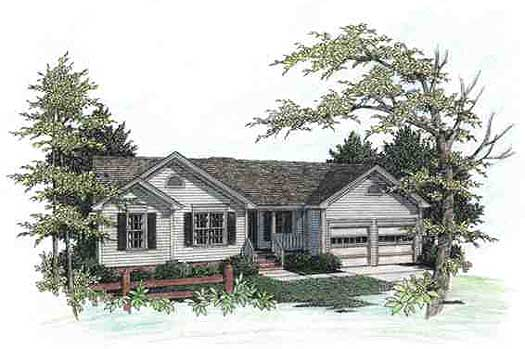 Traditional Style Home Design 4-105