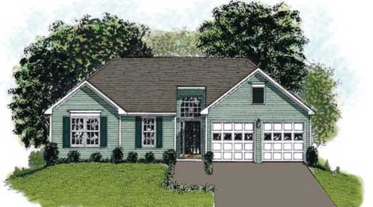 Traditional Style Floor Plans Plan: 4-106