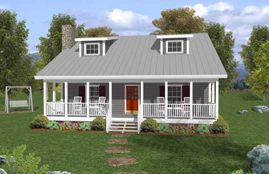 Country Style Home Design Plan: 4-111