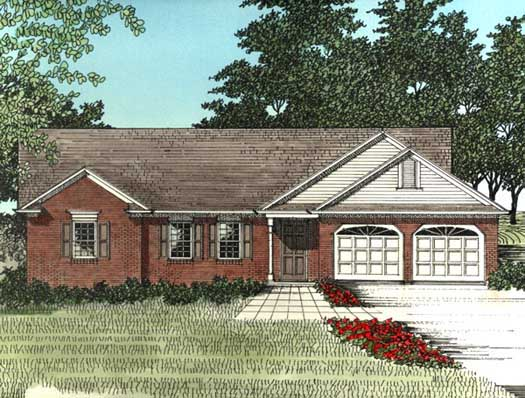 Traditional Style Home Design Plan: 4-112