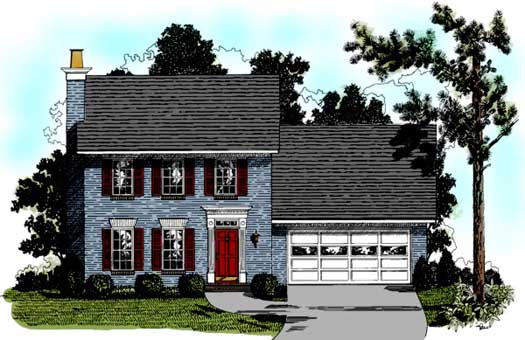 Early-american Style House Plans Plan: 4-114