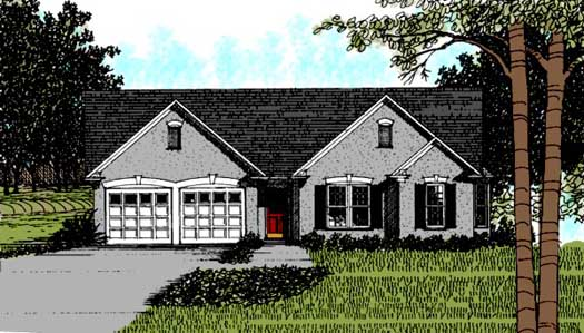 Traditional Style Home Design Plan: 4-116