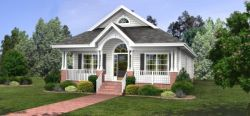 Cottage Style Home Design Plan: 4-118