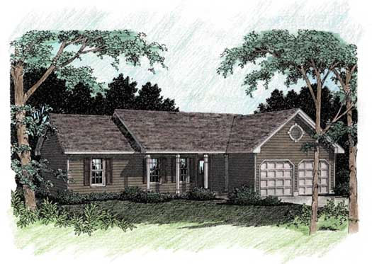 Ranch Style Floor Plans Plan: 4-119
