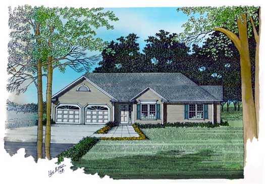 Traditional Style Home Design Plan: 4-120