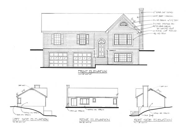 Rear Elevation Plan: 4-121