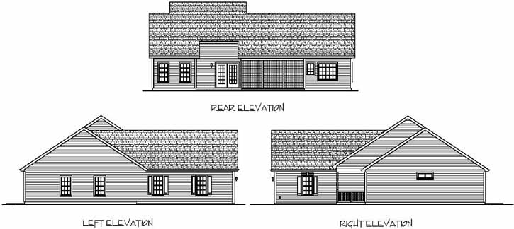 Rear Elevation Plan: 4-122