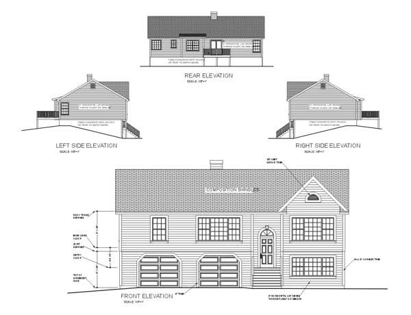 Rear Elevation Plan: 4-124
