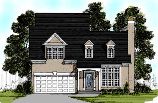Traditional Style Home Design Plan: 4-125