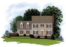 Colonial Style Floor Plans Plan: 4-128