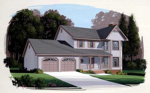 Country Style House Plans Plan: 4-129