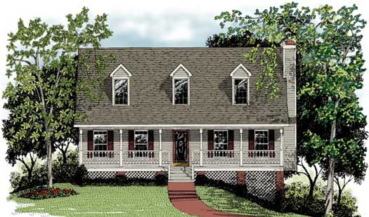 Country Style Floor Plans Plan: 4-131