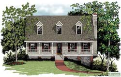 Country Style House Plans Plan: 4-131