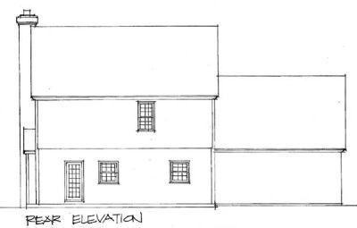 Rear Elevation Plan: 4-133