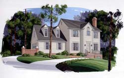 Colonial Style House Plans 4-133