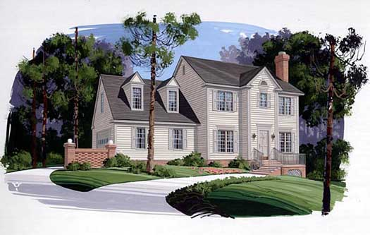 New-england-colonial Style Floor Plans Plan: 4-134