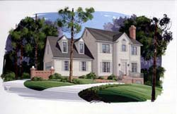 Colonial Style Home Design 4-134