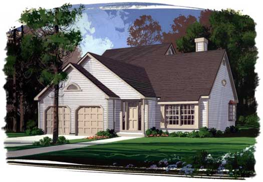 Traditional Style Home Design 4-136