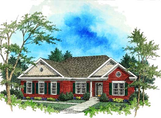 Country Style Floor Plans Plan: 4-137