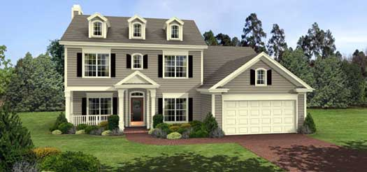Southern-colonial Style Home Design Plan: 4-138