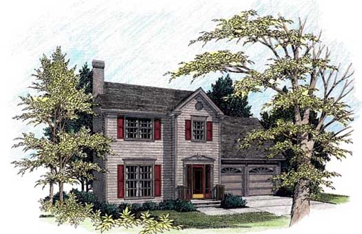 Southern-colonial Style Home Design Plan: 4-139