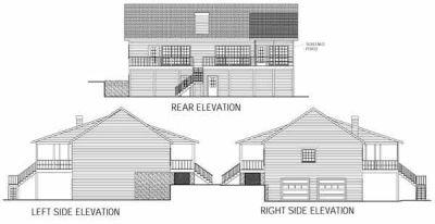 Rear Elevation Plan: 4-140