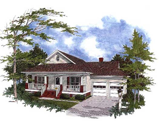 Country Style Floor Plans Plan: 4-142