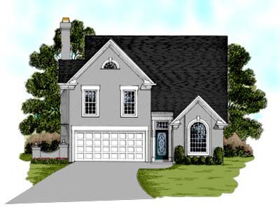 Traditional Style Home Design Plan: 4-144