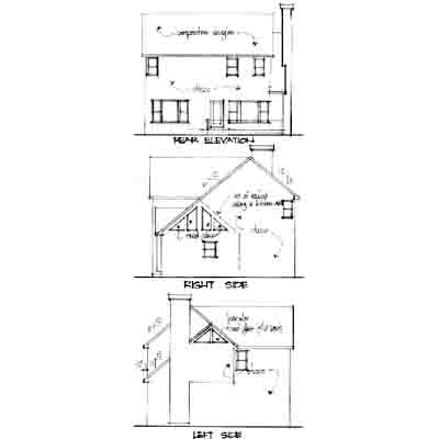 Rear Elevation Plan: 4-144