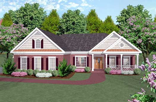 Traditional Style Home Design Plan: 4-145
