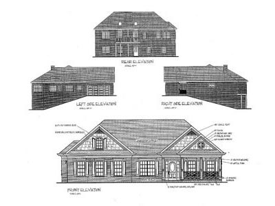 Rear Elevation Plan: 4-145