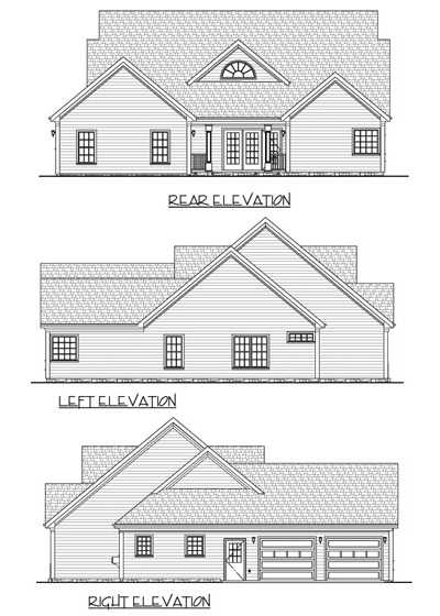 Rear Elevation Plan: 4-146