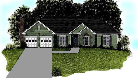 Ranch Style Floor Plans Plan: 4-147