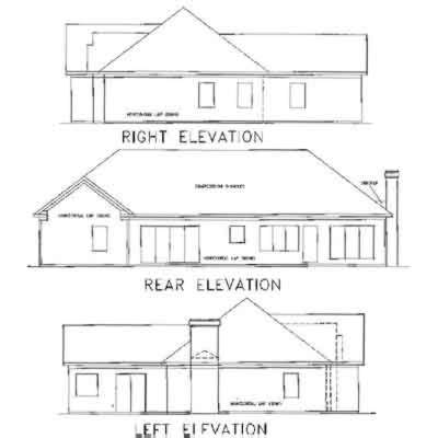 Rear Elevation Plan: 4-147