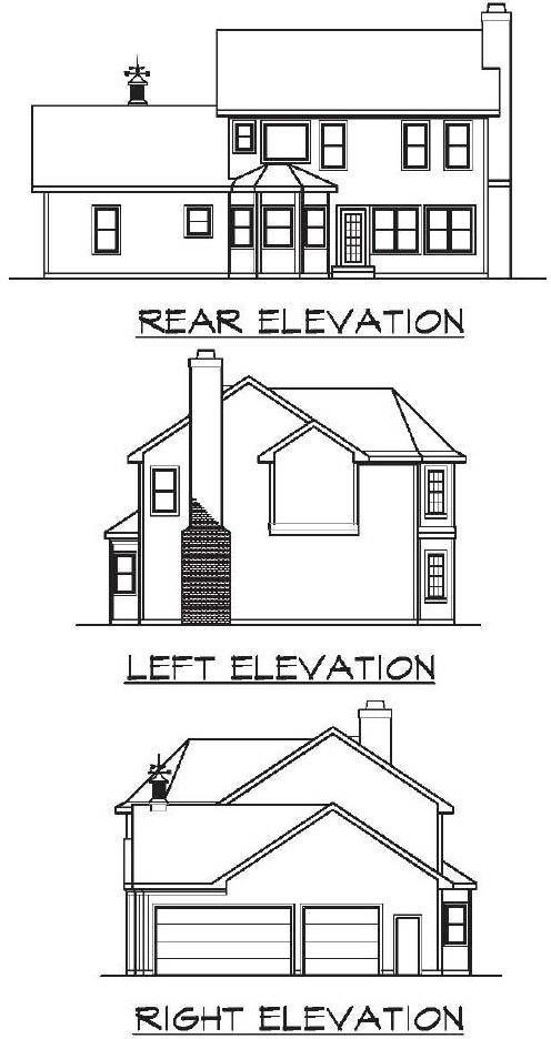 Rear Elevations Plan:4-150