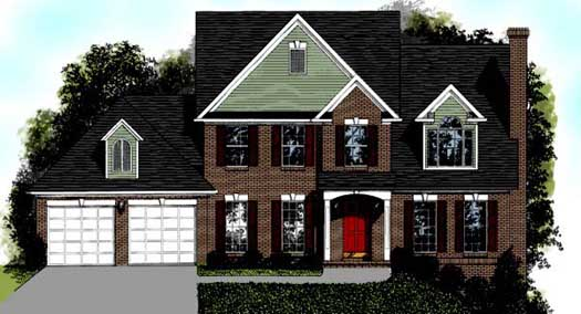 Traditional Style House Plans Plan: 4-153