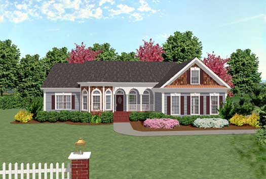 Traditional Style Home Design Plan: 4-154