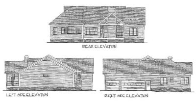 Rear Elevation Plan: 4-154