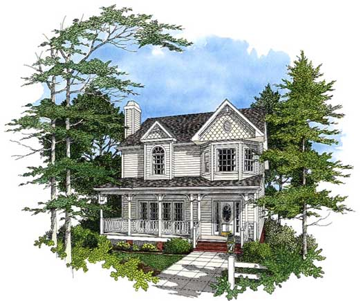 Country Style House Plans 4-155