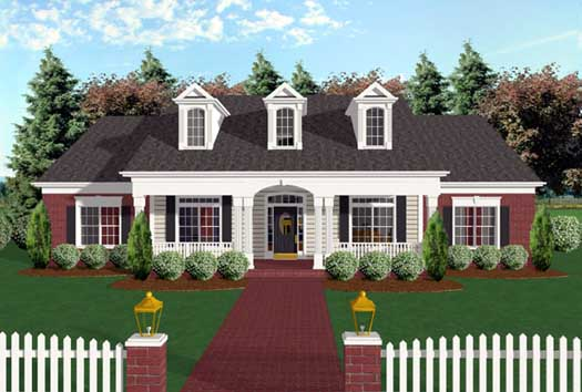 Southern Style Floor Plans Plan: 4-158