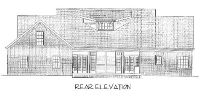 Rear Elevation Plan: 4-158